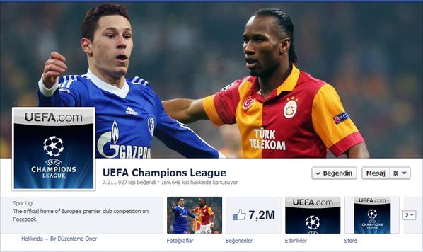 UEFA'nın Facebook Sayfası