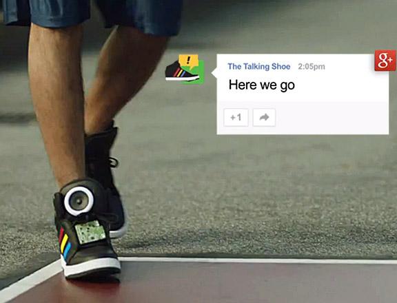 Google'dan Konuşan Ayakkabı