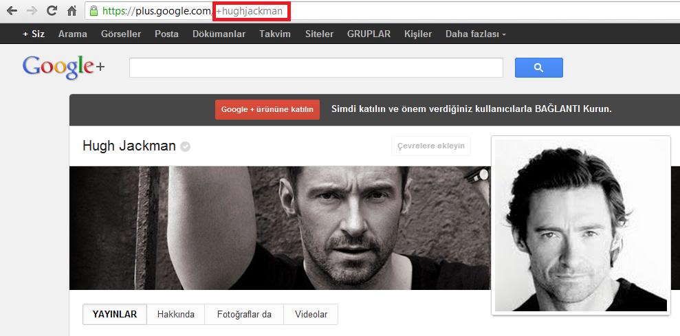 Google Plus'ta Kullanıcı Adı Alma