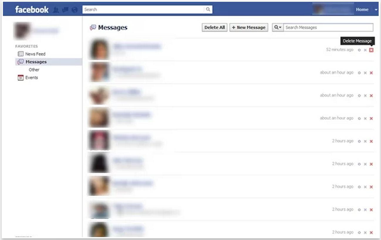 Facebookda Toplu Mesaj Silme Nasıl Yapılır?